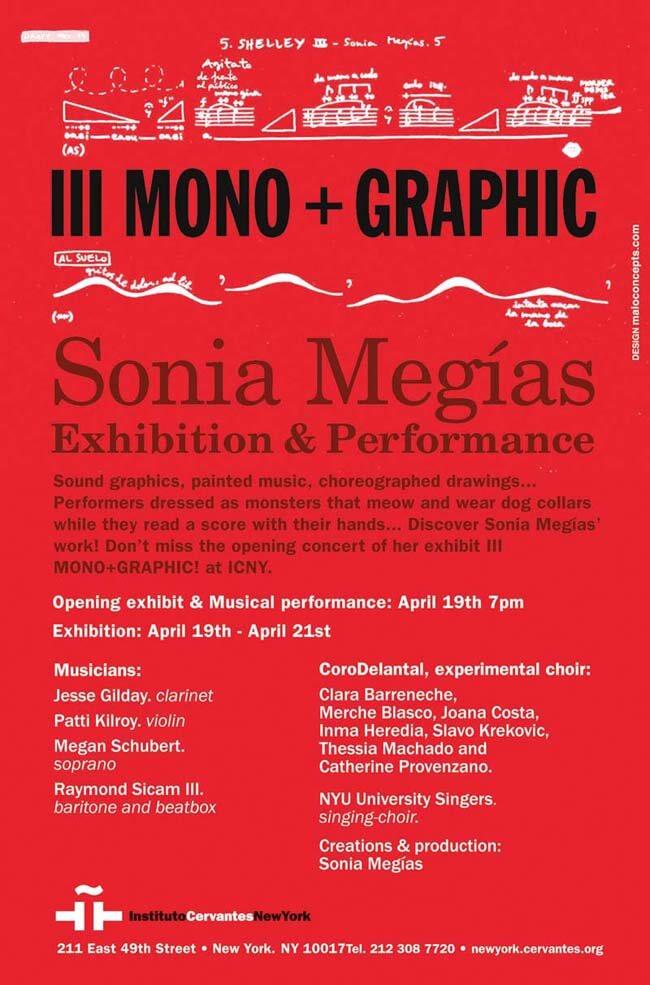 2012'IV'19-25. III MONO+GRAPHIC en el ICNY - cartel