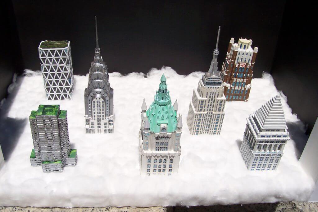 Skyline, proyecto de miniópera - diseño de escenografía, de Antonio Muñoz