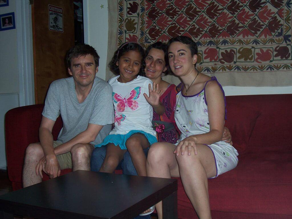 2011'VI. Con mis compañeros de piso: Miguel, Marta y Ana