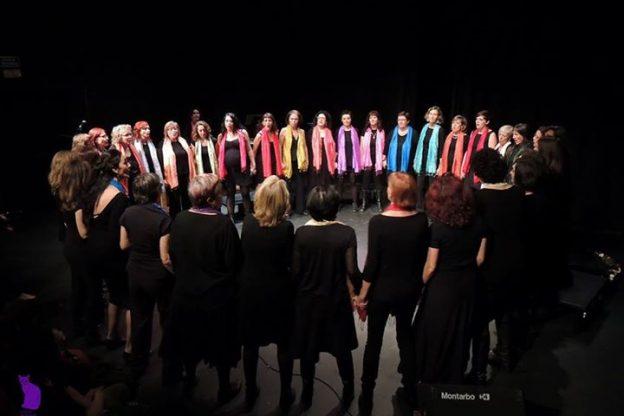 2014'XII. Madrid, Teatro del Barrio. Solsticio de invierno, coro Entredós. Foto: Ela R que R