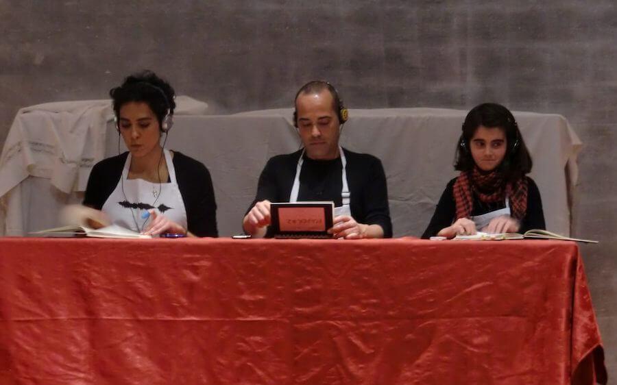 2012'XI'18. IV MONO+GRAPHIC. Estreno de 'Tempi 3.27', a cargo de Eva, Toni y Mercedes