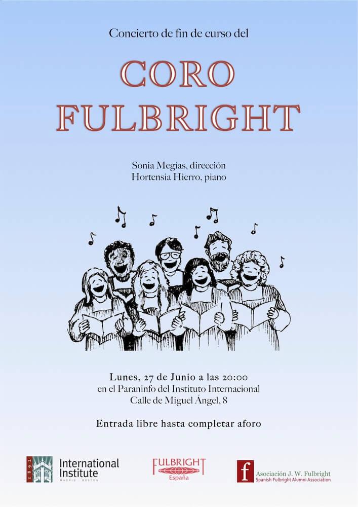 2016'VI'27. Fin de curso Coro Fulbright - cartel
