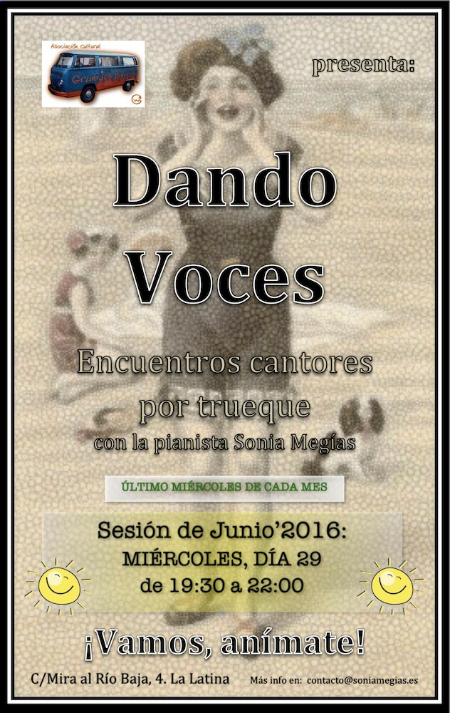 2010'VI'29. Dando Voces Junio'16 - cartel