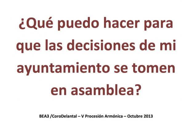 2013'X. Braojos. V Procesión armónica - pegatina ASAMBLEA