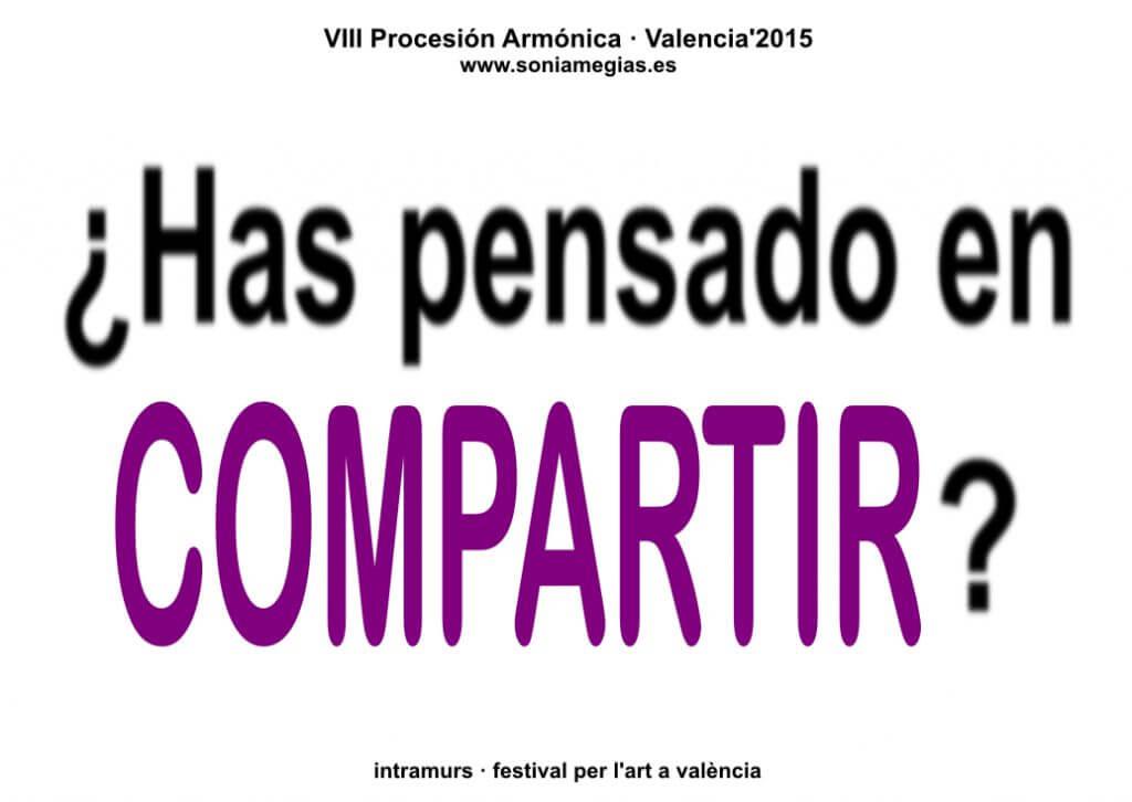 2015'X'31. Valencia. VIII Procesión armónica - pegatina COMPARTIR