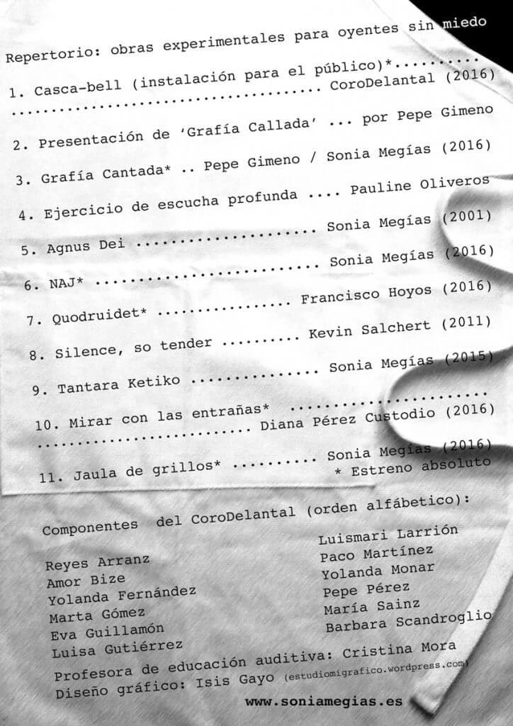 2016'XII'22. Madrid. Bueno por conocer.10 - programa. Diseño: Isis Gayo