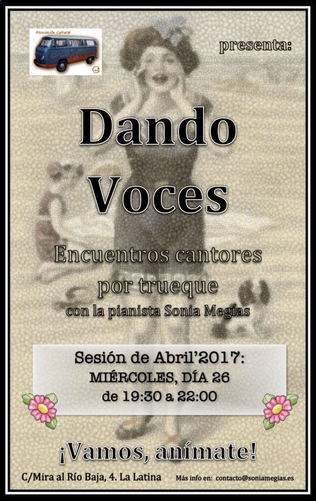 2017'IV. Dando Voces en Abril - cartel
