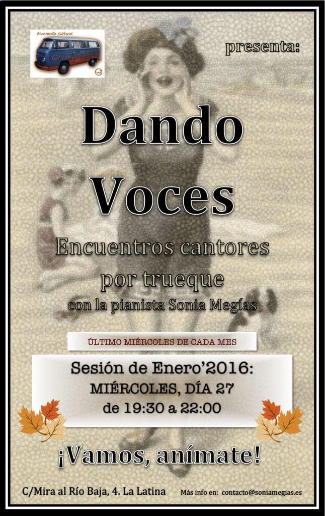 2016'I'27. Dando Voces en enero'2016 - cartel