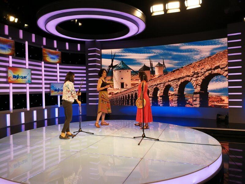 2017'V. Pekín. Dúa de Pel grabando en la CCTV - plató 2