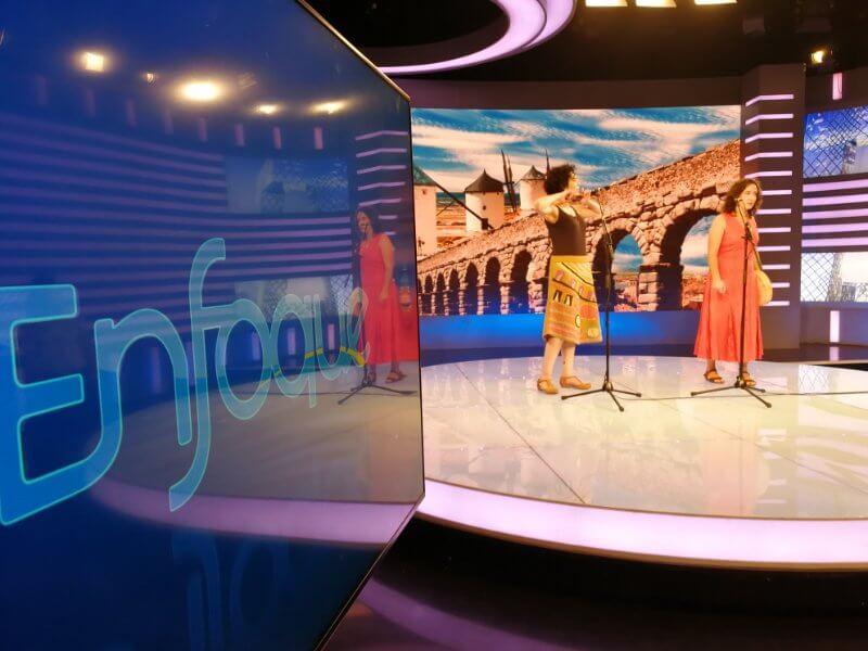 2017'V. Pekín. Dúa de Pel grabando en la CCTV - plató 3