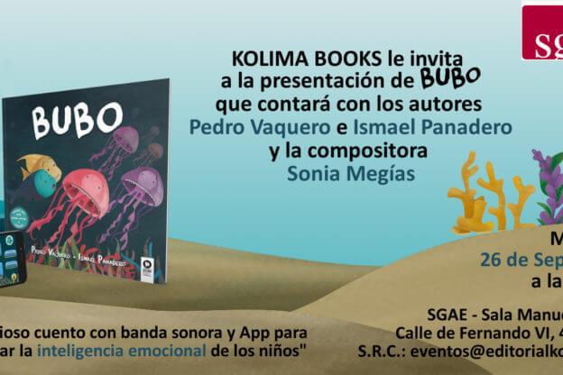 2018'IX'26. Presentación Bubo - SGAE - flyer