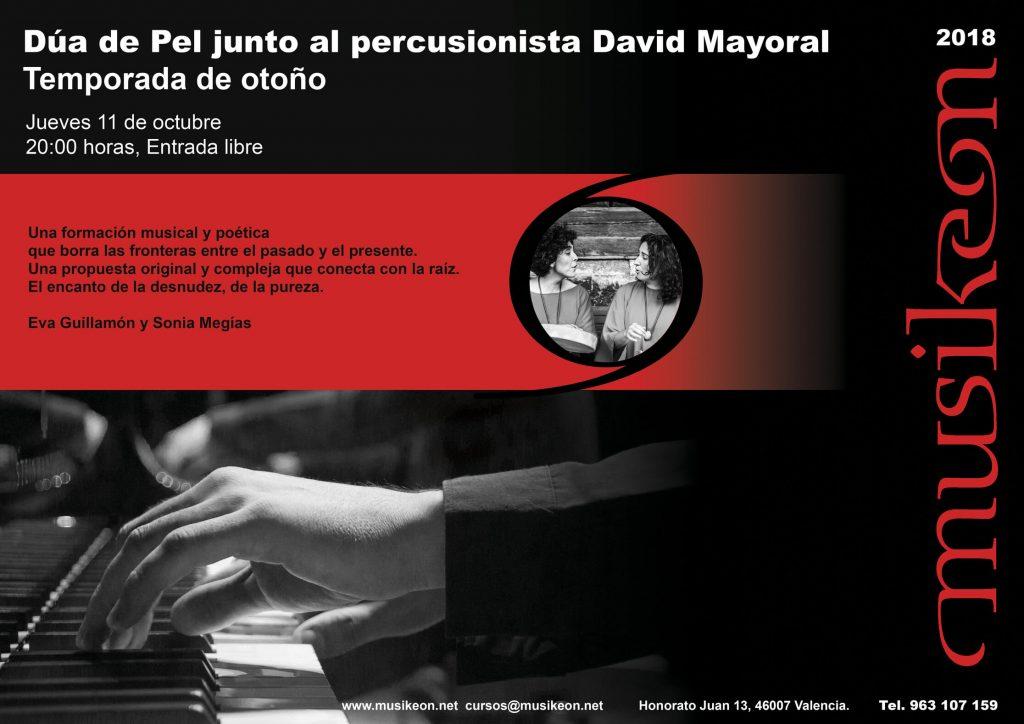 2018'X'11. Valencia. Dúa de Pel en Musikeon - cartel