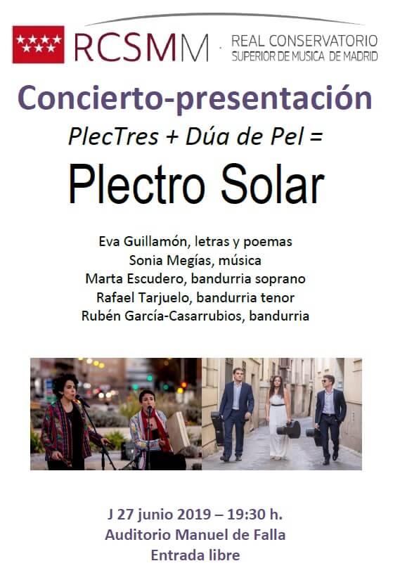 2019'VI'27.- Plectro solar - cartel