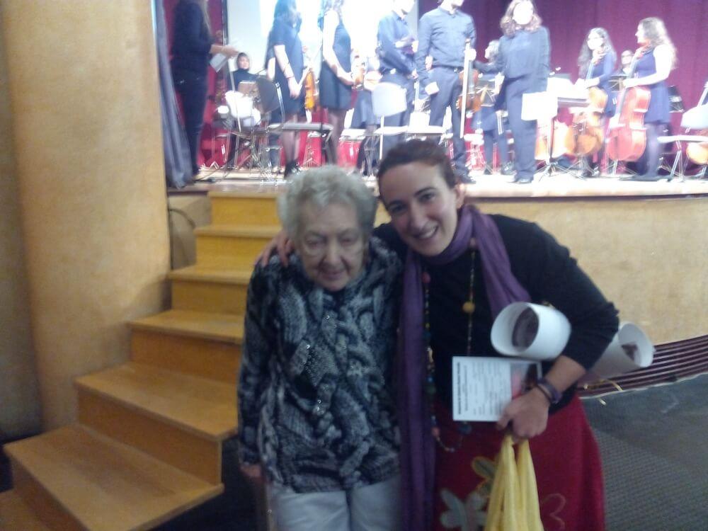 2015'III'14. 'Divertimento' por la orquesta Gaspar Cassadó - en el ensayo, junto a la compositora Mª Luisa Ozaíta