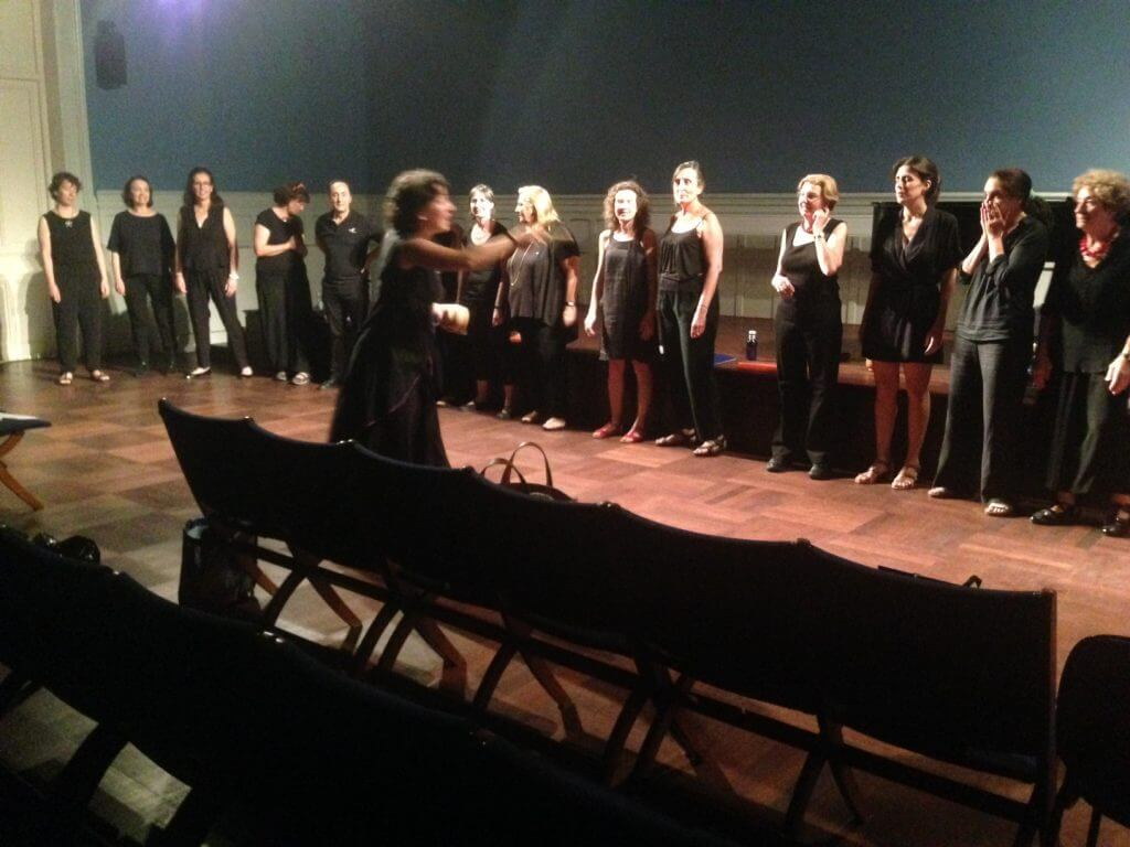 2016'VI'27. Coro Fulbright, concierto de fin de curso - ensayo