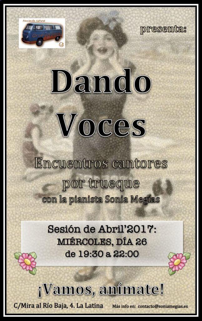 2017'IV. Dando Voces en Abril - cartel