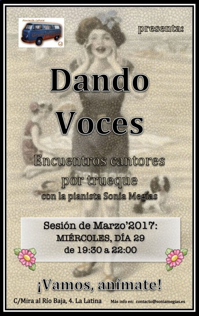 2017'III. Dando Voces - cartel