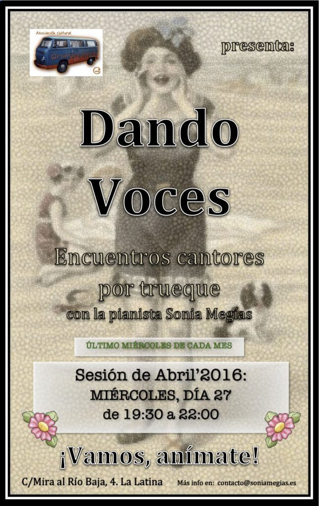 2016'IV'27. Dando Voces en abril'2016 - cartel