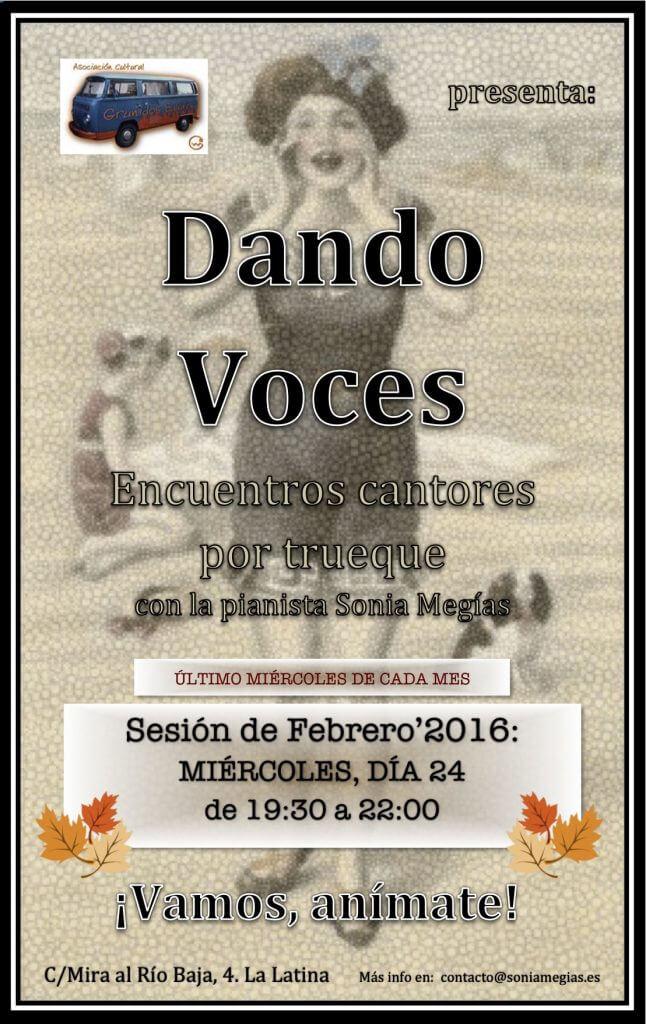 2016'II'24. Dando Voces en febrero'2016 - cartel