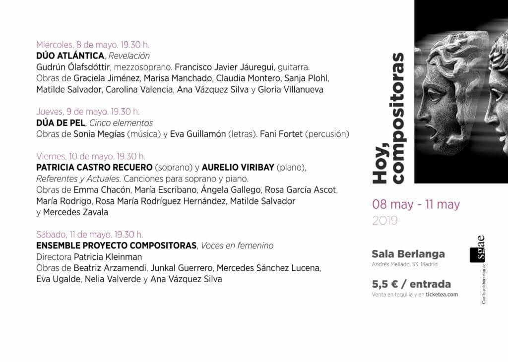 2019'V - Ciclo Hoy Compositoras - Programa